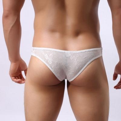 Quần lót nam bikini ren  siêu sexy  trắng 231B