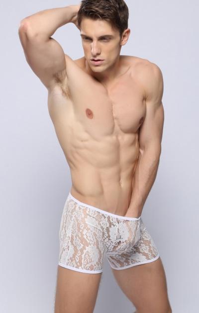 Quần lót nam Boxer Ren trong suốt cá tính 320B