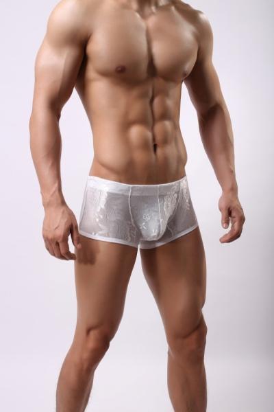 Quần lót nam ren boxer siêu sexy trắng 346B