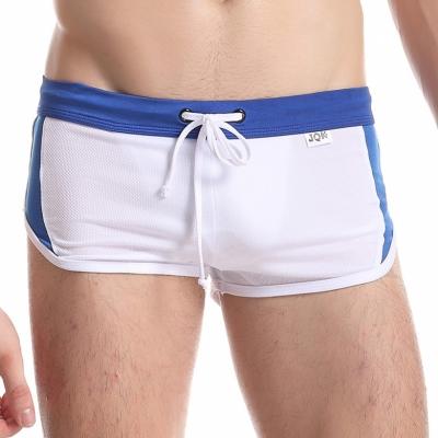 Quần sooc nam liền quần lót JQK cao cấp màu trắng 802B