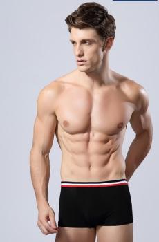 Quần lót Nam boxer vải modal mềm mại đen 327A