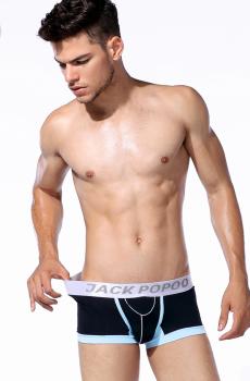Quần lót nam boxer Jack PoPoo cao cấp đen 340A