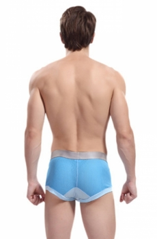 Quần sịp đùi boxer ZPOH mềm mại xanh 342D