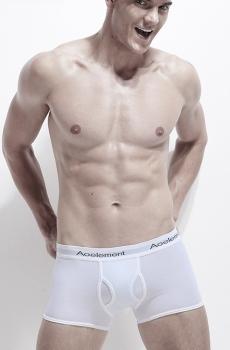 Quần lót nam boxer cotton cao cấp trắng 347B