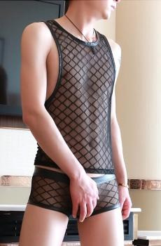 Áo lót nam ba lỗ lưới siêu sexy 702
