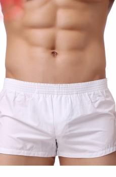 Quần short nam ngắn 100% cotton trắng 804B