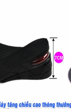 Lót giày tăng chiều cao 7cm đếm khí Massage chân PK3