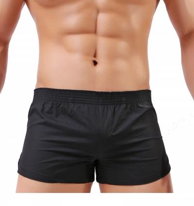 Quần short nam ngắn 100% cotton đen  804A