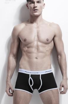 Quần lót nam boxer cotton cao cấp đen 347A