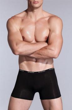 Quần lót nam Boxer vải tơ tre Bamboo mềm mại đen 353A