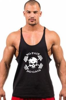áo ba lỗ tập gym nam NO PAIN NO GAIN 704A