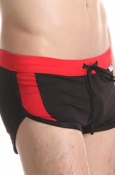 Quần short gắn liền quần lót nam JQK cao cấp màu đen 802A