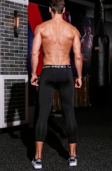 Quần legging tập gym nam co dãn cao cấp lửng 805